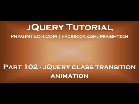 jQuery class transition animation