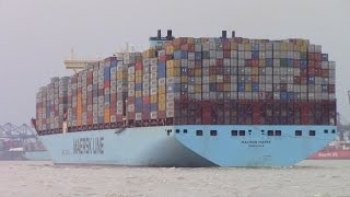 Nonton Triple E Container Ship MADISON MAERSK Fully Loaded inbound into Felixstowe, UK (June 26, 2015) Film Subtitle Indonesia Streaming Movie Download