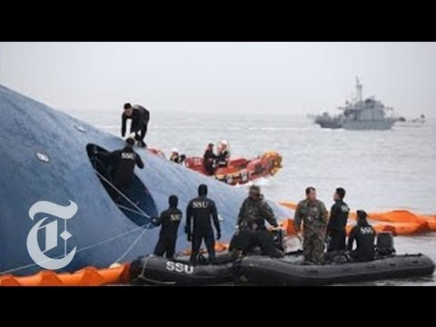 Korea - Officials discussed the latest developments in the search for passengers trapped inside the ferry that sank in the waters off southwestern South Korea. Produ...