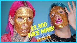 $3,300 GOLD FACE MASK??!! Review + Demo feat. Laganja Estranja by Jeffree Star