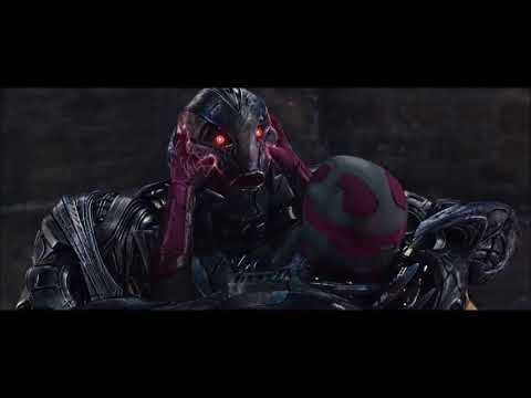 (129)  Avengers 2 Age of Ultron 2015 Hindi Vision vs Ultron Removing  From Internet Scenes (09)