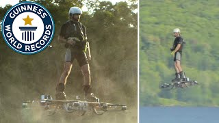 Farthest flight by hoverboard - Guinness World Records - YouTube