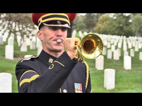 """Taps"" performed in Arlington National Cemetery (summer and winter)"