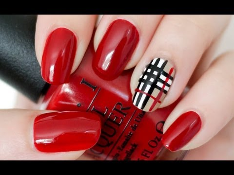 nail art - stile burberry