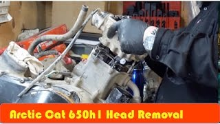 3. Arctic Cat 650H1 How to Remove Head DIY