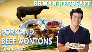 Pork and Beef Wontons I Erwan Heussaff by Tastemade