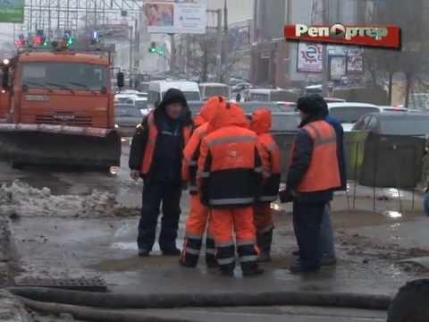 Московское шоссе в районе Автовокзала залило водой