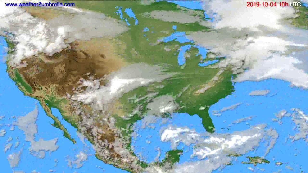 Cloud forecast USA & Canada // modelrun: 12h UTC 2019-10-01