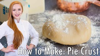 How to Make Pie Crust with 4 Ingredients! by Tatyana's Everyday Food