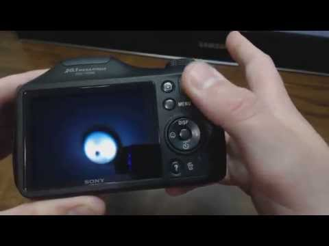 Sony Cybershot DSC H200 Black Digital Camera Unboxing