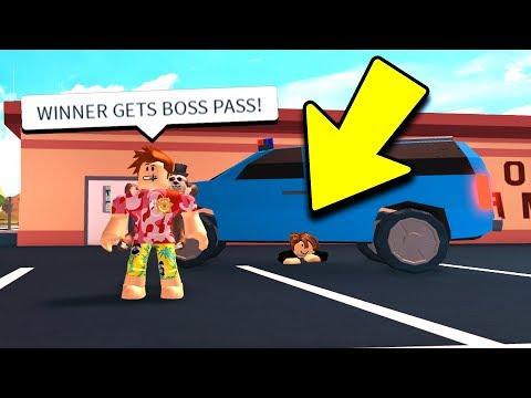 IF YOU WIN, I BUY YOU BOSS GAMEPASS! (Roblox Jailbreak) (видео)