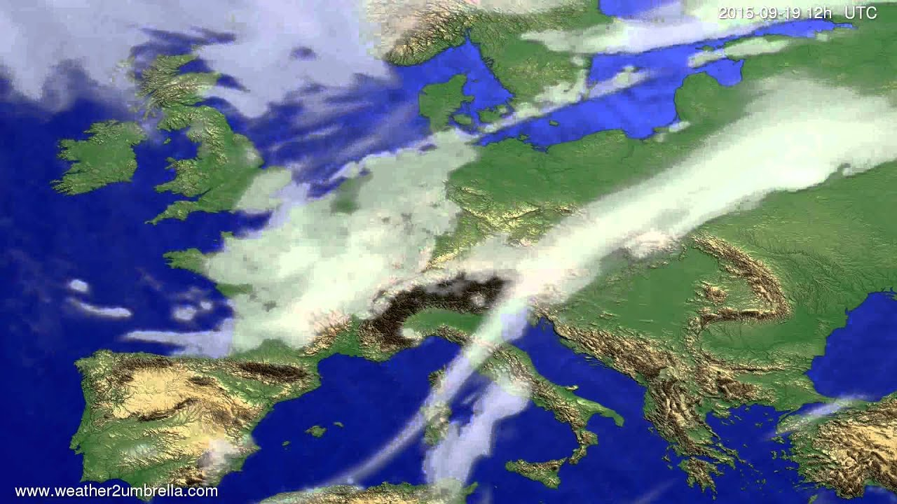 Cloud forecast Europe 2015-09-16