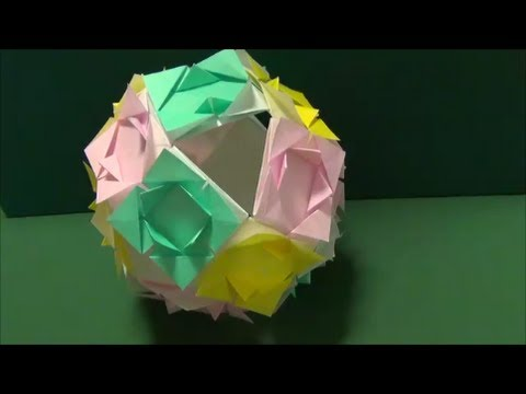 Kusudama Tutorial - 019 -- Ornamental Ball