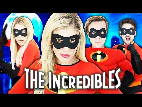 Giant Incredibles Game in Real Life to Save Game Master!   Rebecca Zamolo