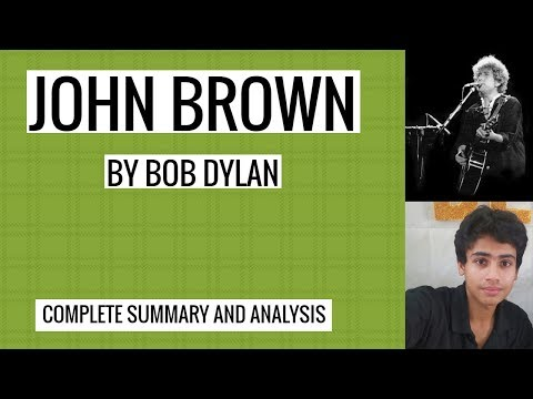 John Brown by Bob Dylan explanation with summary and analysis