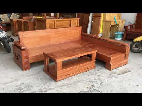 SOFA gỗ Xoan Đào 2m1x1m65  giá rẻ tại Đồ Gỗ Cường Nga quận 12