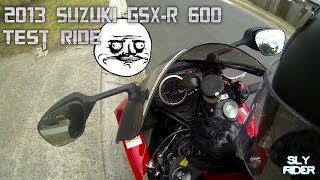 7. 2013 Suzuki GSX-R 600 Test Ride (First 600 Experience)