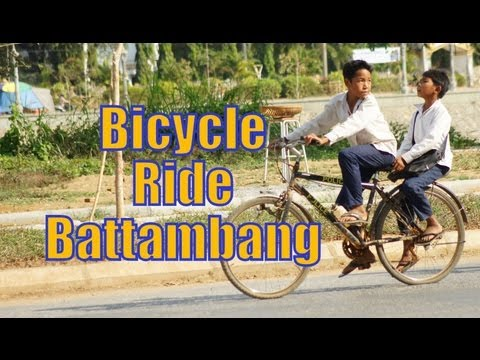 Bicycle Ride touring around Battambang, Cambodia