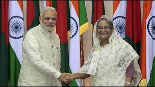 Bangladesh boarders with only India.And also a small boarder with Mynmar( Burma).
