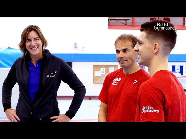 UK Sport Chair, Dame Katherine Grainger visits British Gymnastics