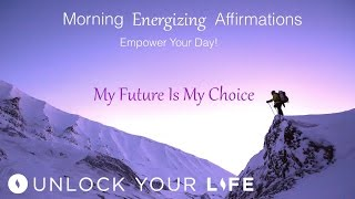 These morning affirmations are designed to energize, motivate and empower you with positive energy.  They remind you that you are the single greatest influence over your own life and your future.  So start today, right now, to build the best possible future you can imagine.Royalty Free Music by Christopher Lloyd Clarke. Licensed by Enlightened AudioMorning Energizing Affirmations on Amazon for 89 cents: https://www.amazon.com/Morning-Energizing-Affirmations-Unlock-Your/dp/B01N9TCZW8Morning Energizing Affirmations on iTunes for 99 cents: https://itunes.apple.com/album/morning-energizing-affirmations-single/id1196762053Positive Daily Affirmations: http://bit.ly/2evKyqMThink Yourself Slim playlist: http://bit.ly/2dFmAM5Deep Sleep playlist: http://bit.ly/2dDf1oUSetting Boundaries and Assertiveness: http://bit.ly/2dTttYKHealing Hypnosis: http://bit.ly/2dWzBE2Self-Esteem playlist: http://bit.ly/2dOt9NFSpiritual Hypnosis playlist: http://bit.ly/2dOtMXoIf you enjoyed day 1 of the Think Yourself Slim Program, you can get ALL 21 meditations, affirmations and coaching mp3s in the high impact 7 Day Think Yourself Slim Program here:http://www.thinkyourselfslim.com for just $69.90 USD, Get $5 off a minimum $25 purchase on all mp3s (excluding the Think Yourself Slim Program) by using code UYL5 at www.unlockyourlifetoday.comSubscribe to Unlock Your Life's Youtube Channelhttp://bit.ly/1NbGwlXConnect on Facebook and gain access to exclusive offers and the occasional mp3 gift: http://www.facebook.com/unlockyourlifetodayUnlock Your Life Mp3s on iTunes: https://itunes.apple.com/artist/unlock-your-life/id1034660915Think Yourself Slim MP3s on iTunes:https://itunes.apple.com/artist/think-yourself-slim/id1009734404-----------------------------------------------------You must be of adult age in your state, or country or gain caregiver or parental approval to listen. These recordings are intended for relaxation, self-improvement and entertainment purposes only.   Hypnosis is not a replacement for any counseling or psychotherapy.  These recordings do not diagnose, cure or prevent any mental or physical health condition or illness or prevent any illness or condition of the body or mind, they cannot tell you what will happen to you in the future.  If you think or know you have a health issue, talk to your doctor before listening to any part of this recording.  Never delay, change or stop any treatment, medication or regime without consulting with your doctor or health care professional first.  Never change your lifestyle, including but not limited to diet, exercise, sleep or anything else without consulting with your doctor first and following his or her advice. If you ever feel unwell at any time while listening to these recordings, you must seek immediate medical attention.  You should continue taking regular medical check-ups.If you know you have any kind of mental health issues, you should NOT buy or listen to any of our hypnosis recordings. If you wish the benefits of hypnotherapy, ask your counselor or therapist.By listening to this recording you confirm that you have checked any suspected or confirmed mental or physical health condition with a doctor and you accept full responsibility for all outcomes.  You understand that hypnosis is merely a process of suggestion and you can always accept or reject the suggestions you receive.  You are always in control.   All hypnosis is self-hypnosis.  Therefore we cannot guarantee, (a) that you will get any results at all or; (b), that any results you do get will be permanent.Please only ever listen to any of these recordings when you are in a quiet space, ideally at home or in a quiet room.  Never listen to any of these recordings while driving or operating machinery or when required to remain alert to your environment as you may become very relaxed and may even fall asleep.All recordings are best listened to on headphones.All scripts are unique and protected by copyright law by © Sarah Dresser 2015 / 2016 and may not be transcribed, re-used or re-recorded in part or whole whether for public or private practice use.  All recordings are also copyright protected and are not permitted for public broadcasting, or any form of paid or unpaid distribution other than for private, individual use.  These recordings may be removed or deleted at any time with no notice.