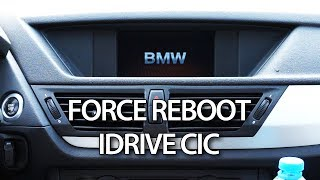 How to force reboot in BMW iDrive CIC navigation to solve system hang and screen freeze issues or when module coding was changed and system restart is required. Check this tutorial to see how to force a reboot to your navigation system and keep that in mind next time you have issues with GPS navigation or other functions in your car.http://mr-fix.info/Facebook: https://www.facebook.com/mrfixpl/Instagram: https://www.instagram.com/mrfixpl/Pinterest: https://pinterest.com/mrfixpl/Instructables: http://www.instructables.com/member/mr-fix/