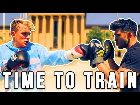 MY FIRST DAY OF TRAINING FOR MY BOXING MATCH AGAINST KSI'S LITTLE BROTHER!!