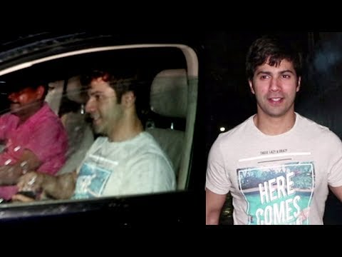 Varun Dhawan FUNNY Chat With Reporter | Spotted On