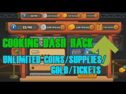 Cooking Dash Hack 2019 New Version - Cheat Gold And Coins - No Root - Gameplay(Android)