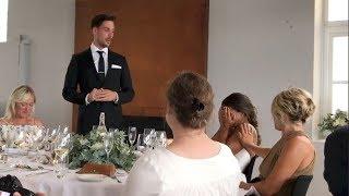 Treningsstjernen Jørgine Massa Vasstrand knakk helt sammen under ektemannens Morten Sundlis tale da de giftet seg i sommer.