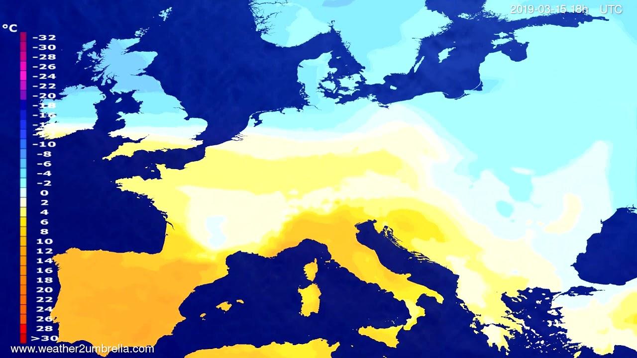 #Weather_Forecast// Temperature forecast Europe 2019-03-14