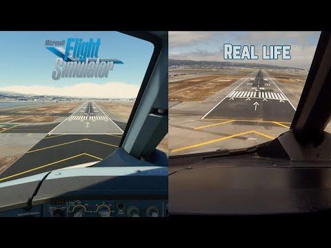 Посадка в Сан-Франциско MFS2020 vs Реальность