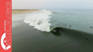 Perfectly Timed Drone Coverage Of A Multi-Barrel Ride In Namibia Get a new perspective on one of the world's most mysterious waves - the cold, foggy, sand-bo...