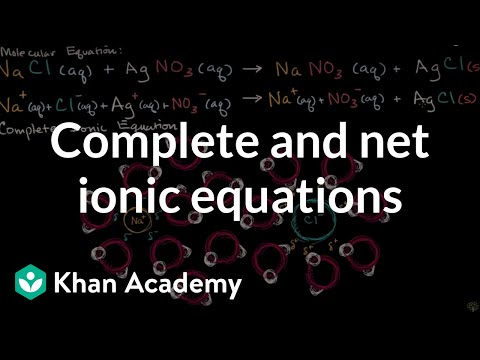 Complete Ionic And Net Ionic Equations Video Khan Academy