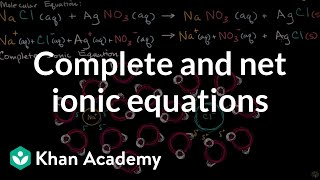 Understanding the difference between molecular equations, complete ionic equations and net ionic equations.