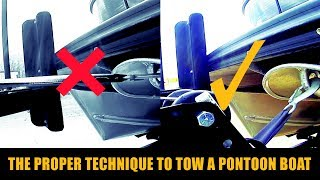 6. How to tow a pontoon boat | #WPM