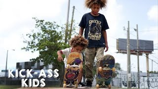 Video The Amazing Skateboard Brothers Aged 8 And 2 | KICK-ASS KIDS MP3, 3GP, MP4, WEBM, AVI, FLV November 2017