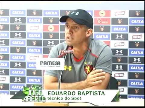 [JOGO ABERTO PE] Sport: Eduardo Batista acredita na vitória contra o Palmeiras