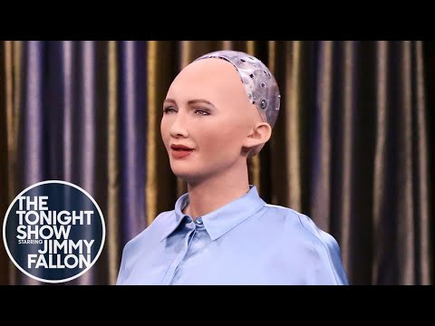 Jimmy Fallon Meets Some Cool and Creepy Robots