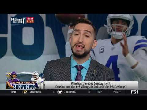 First Things First | Cris Carter reacts to Cousins and the 6-3 Vikings or Dak and the 5-3 Cowboys ?