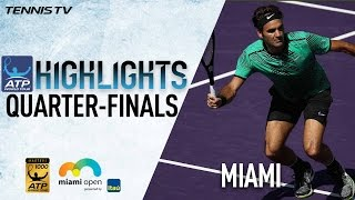 Watch Thursday highlights from the Miami Open presented by Itau, featuring quarter-final victories from Roger Federer and Nick Kyrgios. Watch live matches at ...
