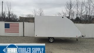 4. 2016 SNOPRO 101x12 Hybrid Aluminum Enclosed 2 Place Snowmobile Trailer