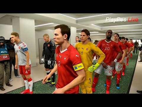 PES 2019 - SWITZERLAND vs DENMARK - Full Match & Amazing Goals - Gameplay PC