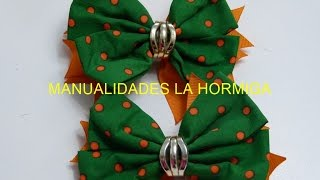 Como hacer lazos  perfectos con tela How to make perfect ties with fabric