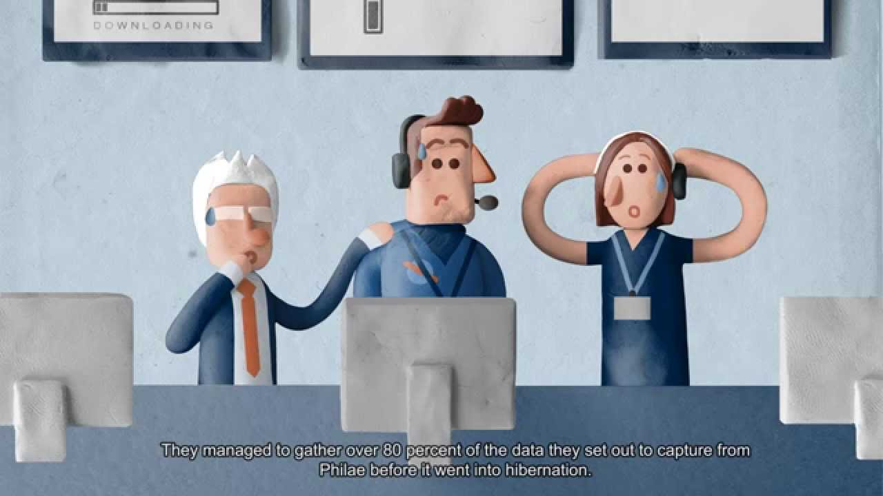 #видео | История миссии Rosetta в виде пластилинового мультфильма