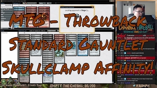"""And now we finally got which is likely one of the best standard decks of all time. Skullclamp Affinity. Affinity is already considered one of the most broken mechanics of all time and why don't we also just toss in the most broken equipment of all time into the mix as well. The result: getting the ability to win games without dealing a single point of damage! Skullclamp affinity was so busted that Clamp eventually had to be banned.- Go to https://www.ChannelFireball.com for all your MTG needs! Put in Coupon Code: HAUMPH to get 5% off your current purchase!Empty the Cheons tokens are also available and simply put in: HAUMPH under the comments sections to get some Empty the Cheons tokens!- Customize your very own playmat at Inkedgaming.com! Your game, your style, use coupon code """"Haumph"""" to receive 12% off your purchase! - https://www.inkedgaming.com/- Buy, sell, and even rent cards on MTGO through Manatraders! Rent all the cards you want for one low monthly price and use COUPON CODE: HaumpHTwitch to get 20% off your first monthly subscription! - https://www.manatraders.com/?medium=H...Don't forget to hit that Like button and Subscribe!Stream: https://www.twitch.tv/haumphTwitter: https://twitter.com/haumphEmail: magichaumph@gmail.comFacebook: https://www.facebook.com/paul.cheon.7"""