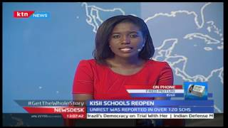 Itiero Secondary School in Kisii gets re-opened with students trying to rebuild from the ashes