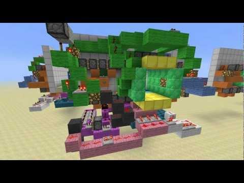 Minecraft Piston Door 3x3 3x3 Flush Piston Door w/ All