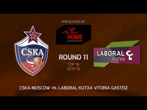 Highlights: Top 16, Round 11, CSKA Moscow 90-78 Laboral Kutxa Vitoria