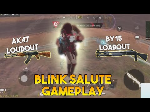 AK47 AND BY15 LOADOUT | BLINK SALUTE GAMEPLAY | CALL OF DUTY